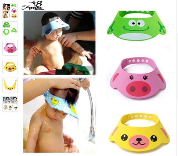 Adjustable Baby Hat Toddler Kids Shampoo